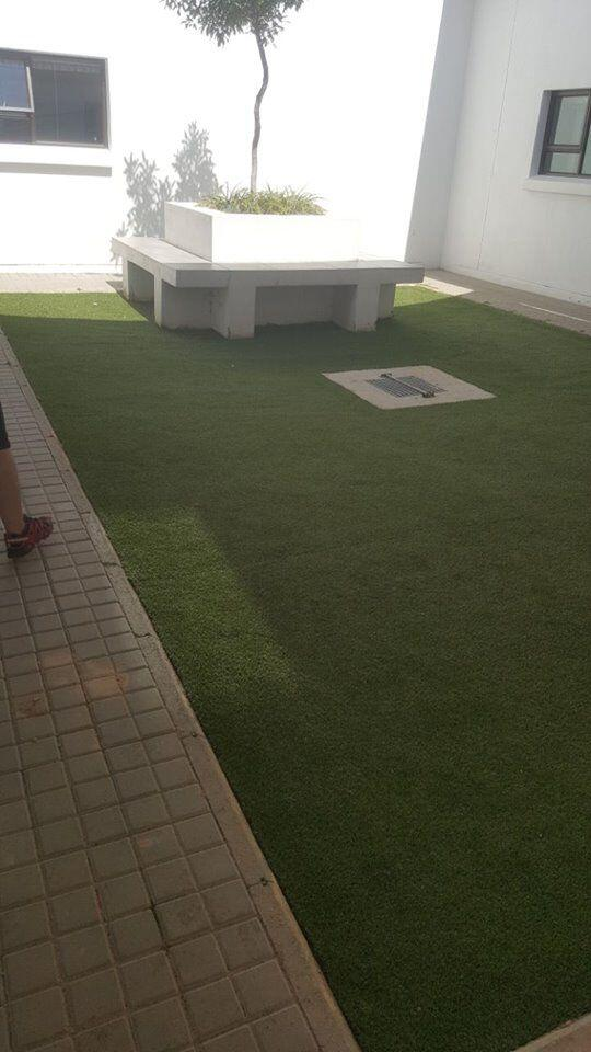 artificial grass installed